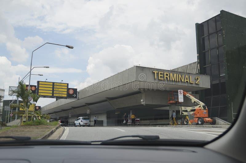 GRU-Flughafenabfertigungsgebäude 2 lizenzfreies stockbild