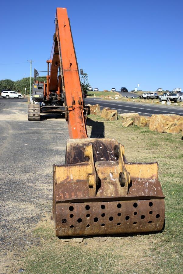 Gru idraulica dello zappatore o dell'escavatore in Australia fotografia stock libera da diritti