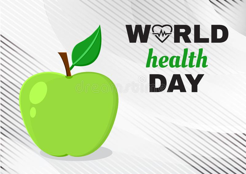 Gru?karte f?r Weltgesundheits-Tag Vektor lizenzfreie abbildung