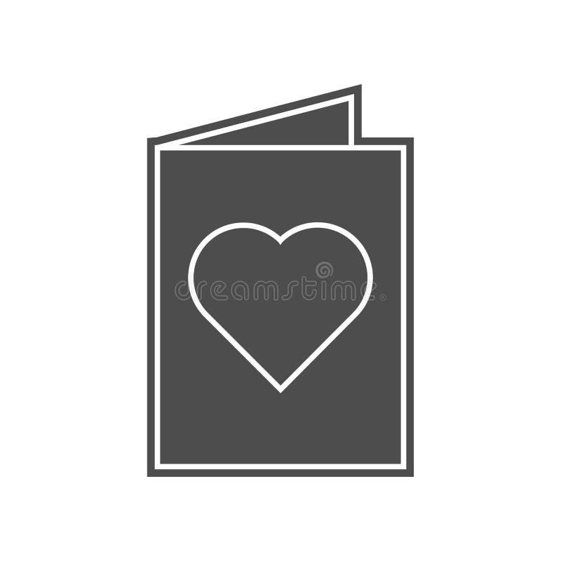 Gru?kartenikone Element von minimalistic f?r bewegliches Konzept und Netz Appsikone Glyph, flache Ikone f?r Websiteentwurf und vektor abbildung