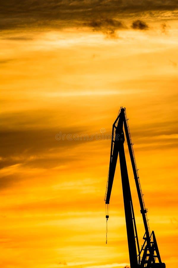 Gru profilate al cantiere navale, fotografie stock