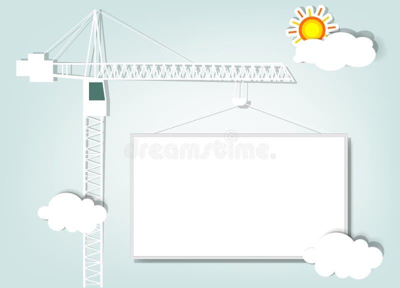 Gru a torre di carta illustrazione vettoriale
