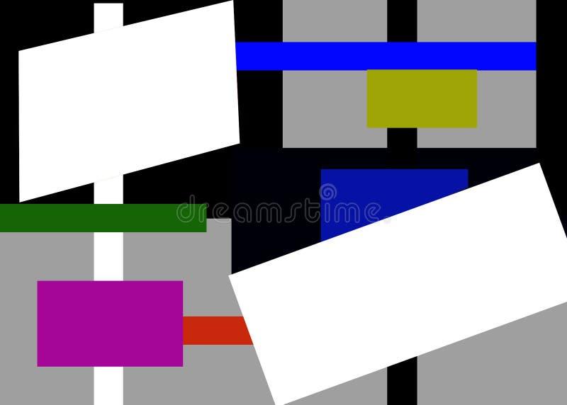 Gru a torre e attrezzatura per l'edilizia del magazzino illustrazione vettoriale