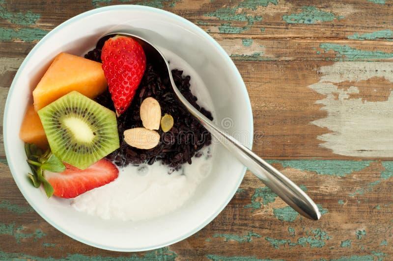 Gruau asiatique de petit déjeuner photo libre de droits