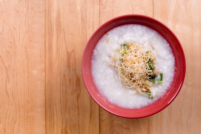 Gruau chinois de riz de gruau photographie stock libre de droits