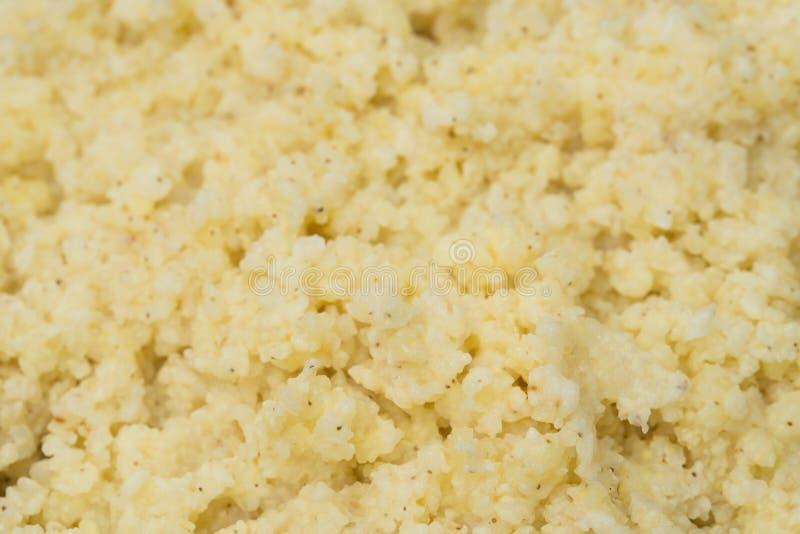 Gruau cuit de millet images stock
