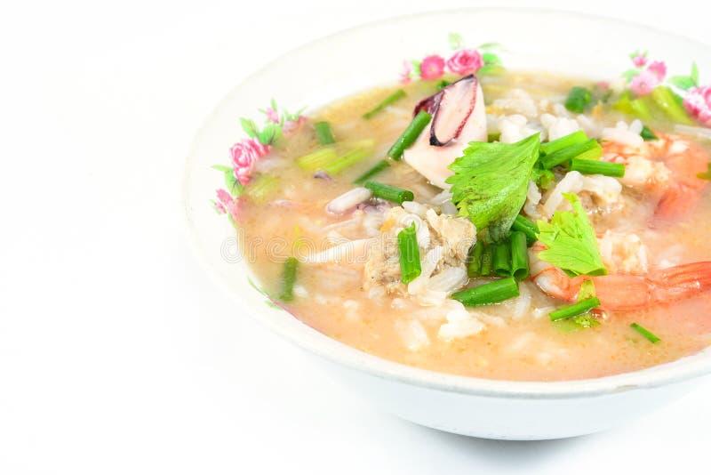 Download Gruau De Riz Avec Du Porc, La Crevette Et Le Squid, Petit Déjeuner Thaïlandais Photo stock - Image du fond, chinois: 45362898