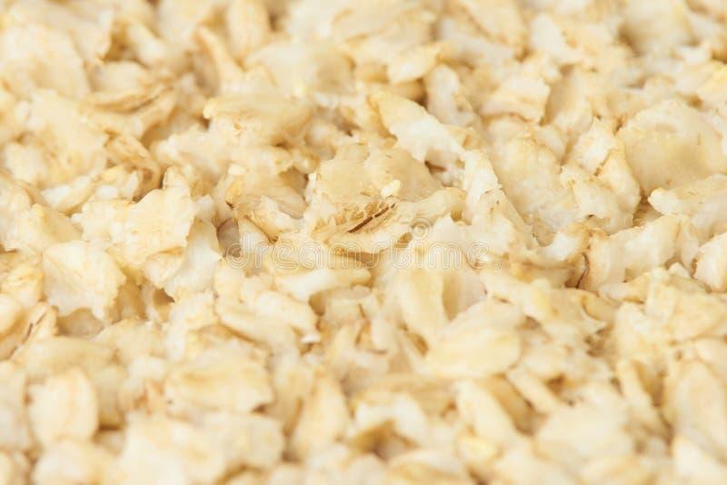 Gruau savoureux utile Farine d'avoine pour les aliments diététiques de petit déjeuner photographie stock