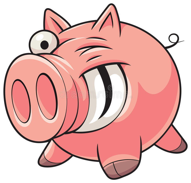 gruba świnia ilustracja wektor