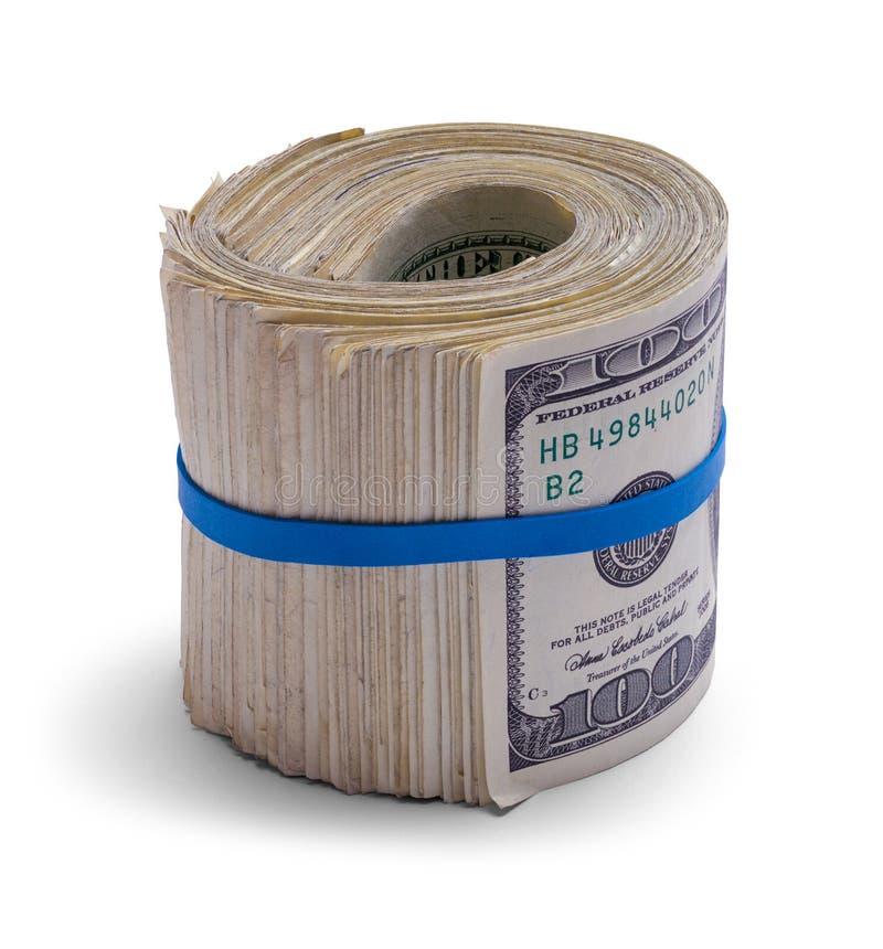 Gruba pieniądze rolka zdjęcia stock