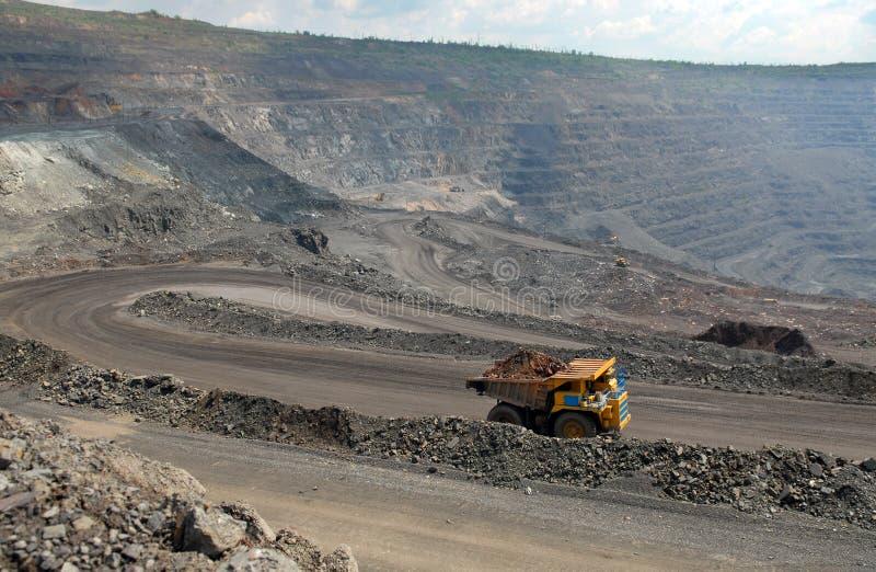 Grube des Eisenerzes stockfotos