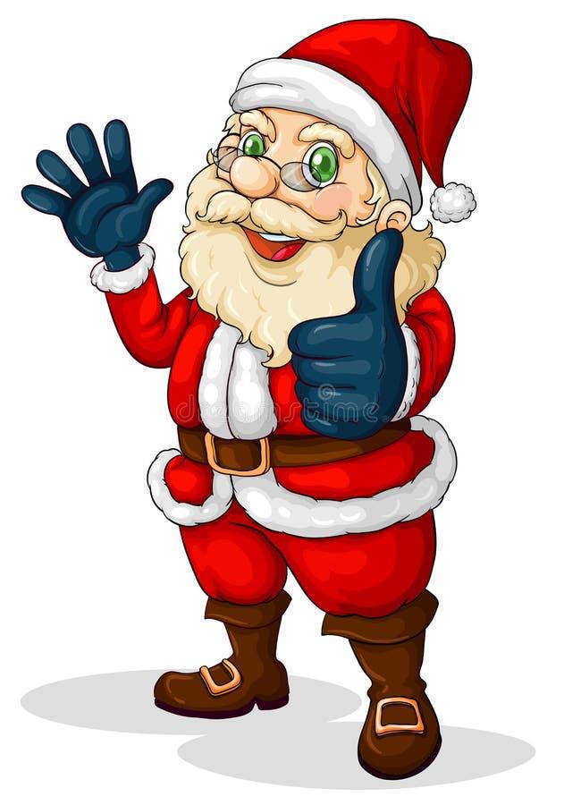 Gruby Święty Mikołaj ilustracji