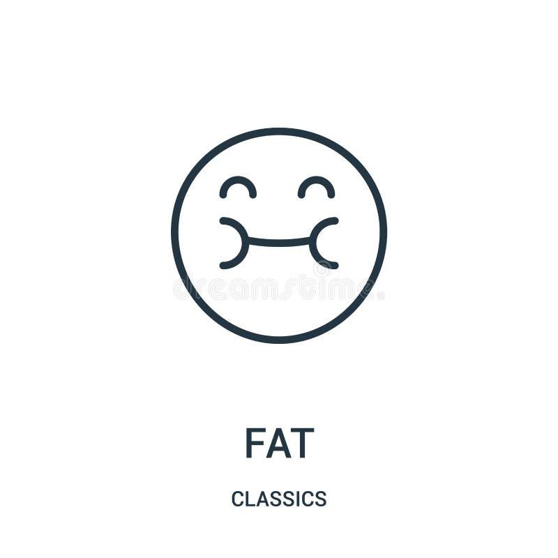 gruby ikona wektor od klasyków inkasowych Cienka kreskowa gruba kontur ikony wektoru ilustracja Liniowy symbol royalty ilustracja