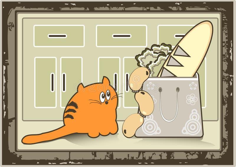 gruby kot ilustracji