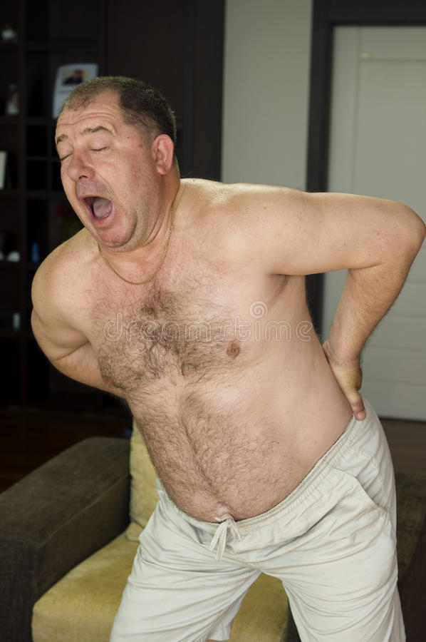 gruby mężczyzna zdjęcie stock