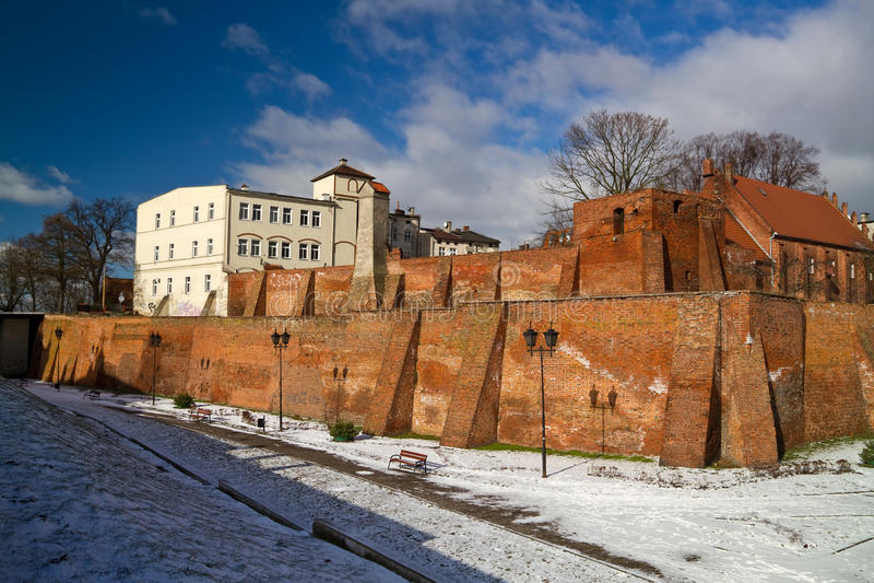 Grudziadz老城镇 库存照片