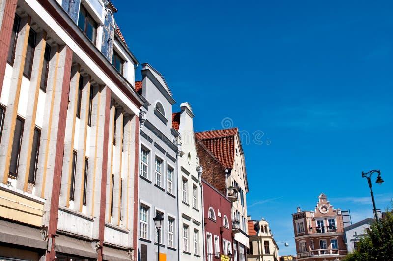 Grudziadz, Polonia Cuadrado de ciudad principal fotografía de archivo