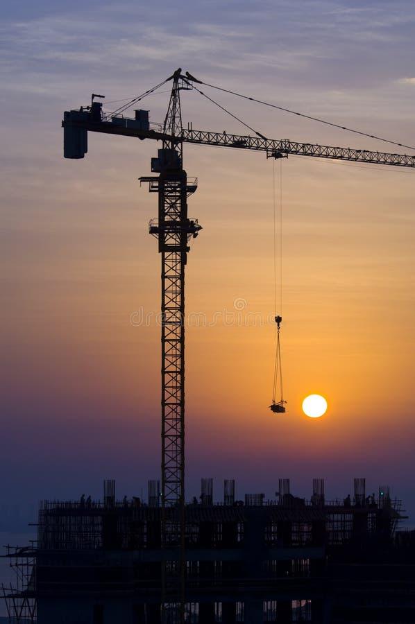 Grue au lever de soleil image libre de droits