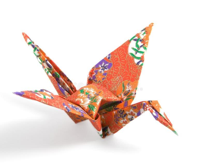 Grue d'Origami photographie stock libre de droits