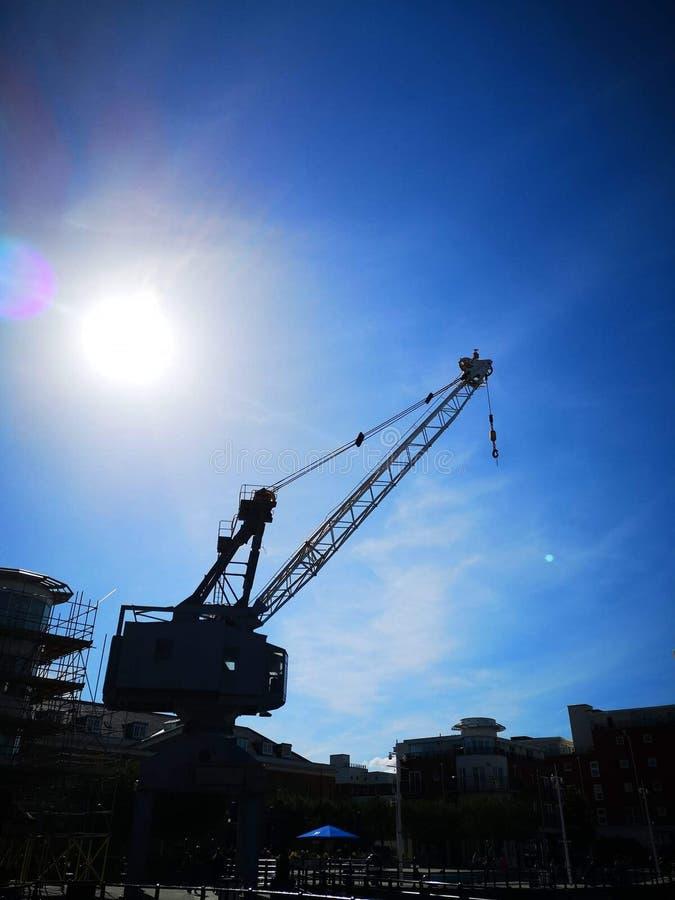 Grue de chantier de construction navale image stock