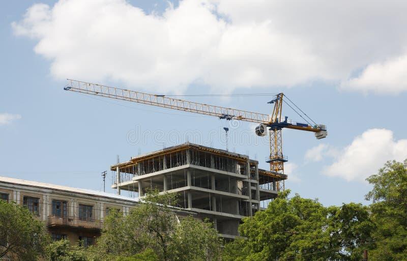 Grue de construction photo stock