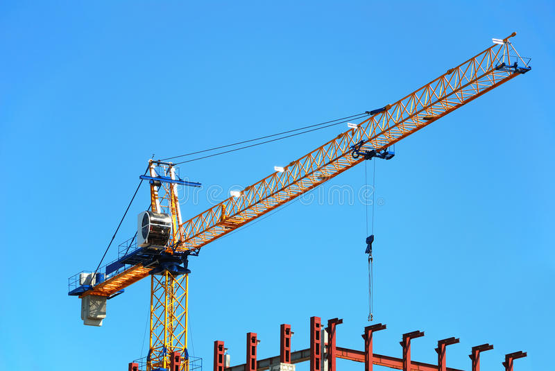 Grue de construction image stock