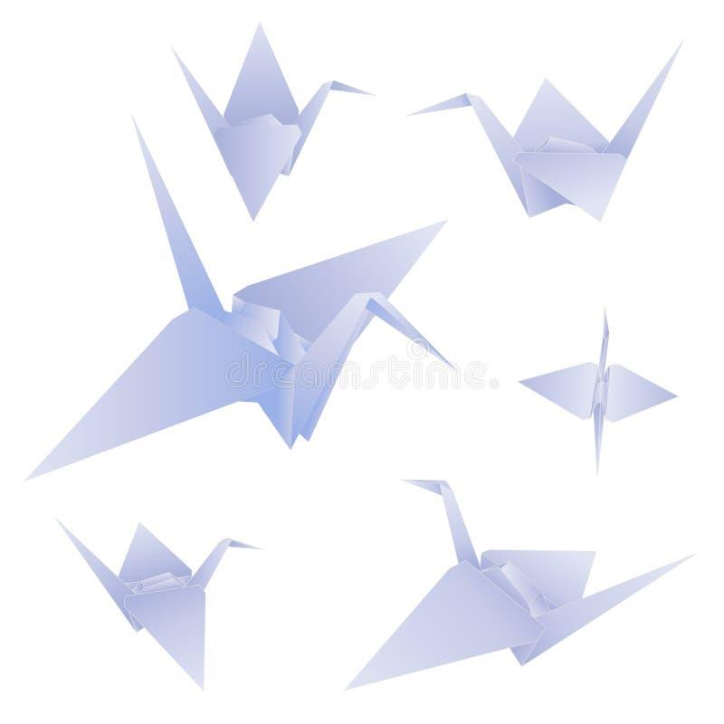 grue de papier bleu de vecteur image libre de droits