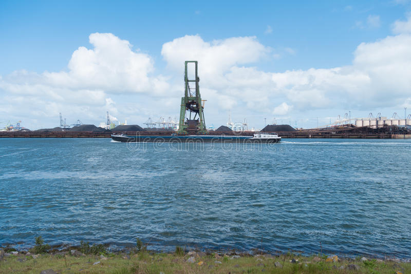 Grue de port à Rotterdam photo stock