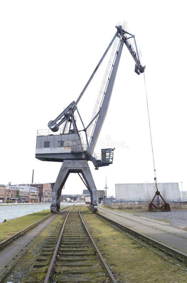 Grue de port photos stock
