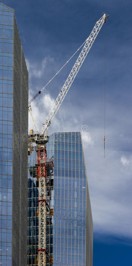 Grue et constructions photos libres de droits