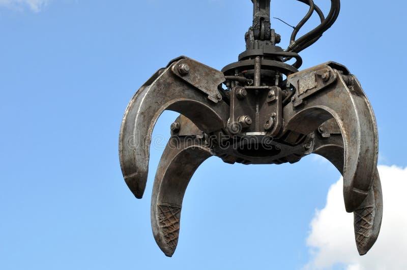 Grue hydraulique de griffe photo libre de droits