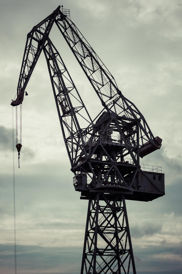 Download Grue Industrielle Dans Des Chantiers Navaux De Danzig Image stock - Image du port, industrie: 77160511