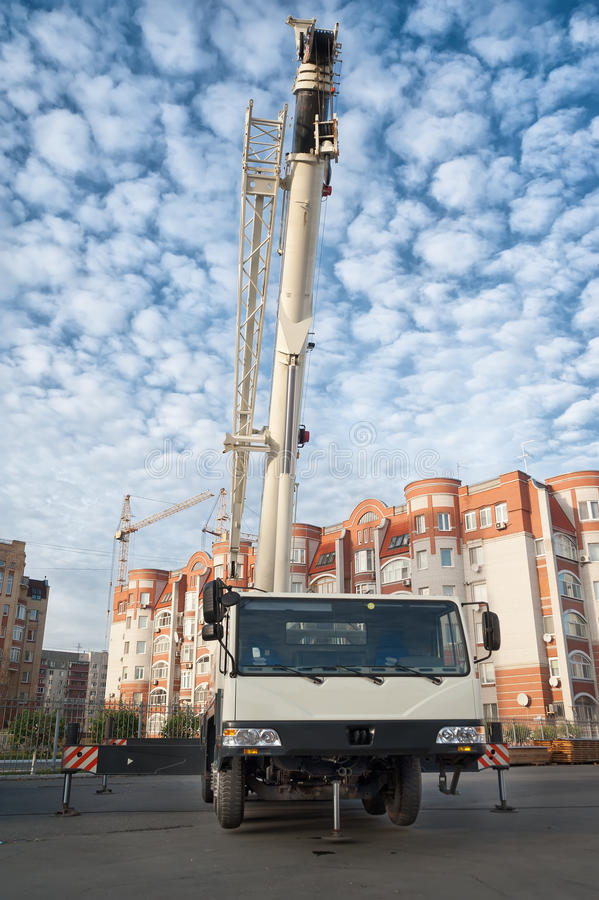 Grue mobile photographie stock