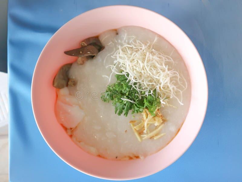 Gruel ρυζιού, κουάκερ ρυζιού ή congee στοκ φωτογραφίες