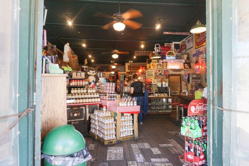 Gruene, TX-Gemischtwarenladen lizenzfreies stockbild