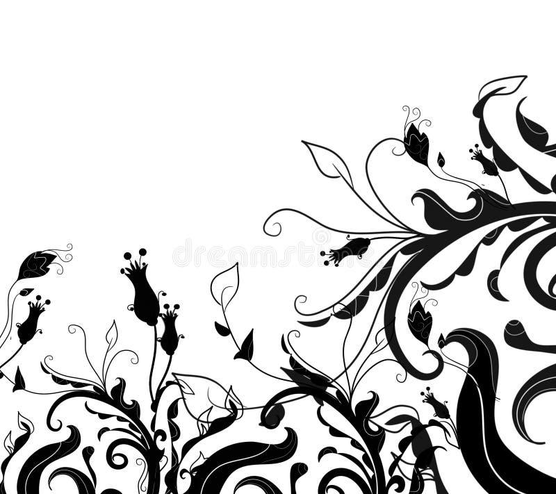 gruge kwiecisty graniczny royalty ilustracja