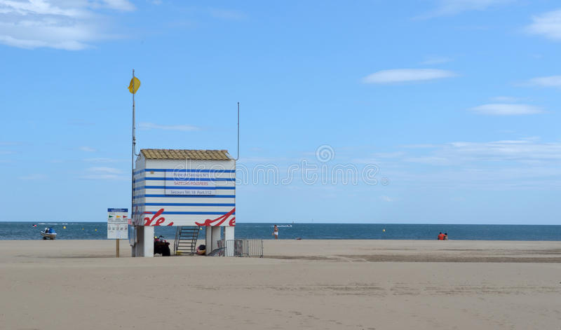 Gruissan Beach royalty free stock photography