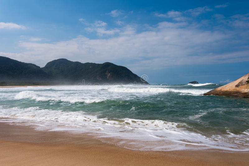 Grumari strand royaltyfri foto