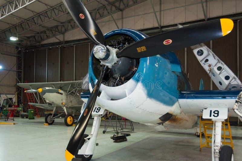 Grumman F6F Hellcat, Duxford, IWM stock photo