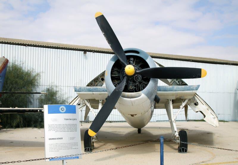 GRUMMAN HÄMNARE - amerikansk torpedbombplan arkivfoto