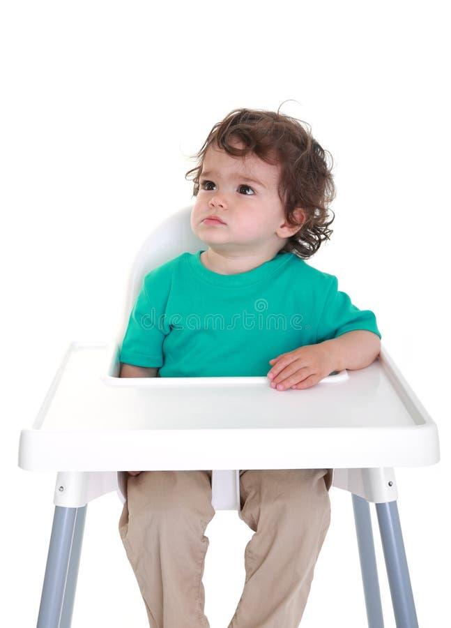 Grumpy baby stock photos