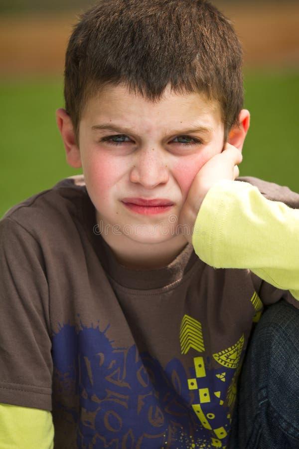 Download Grumpy Boy stock image. Image of facial, expressive, gaze - 18556093