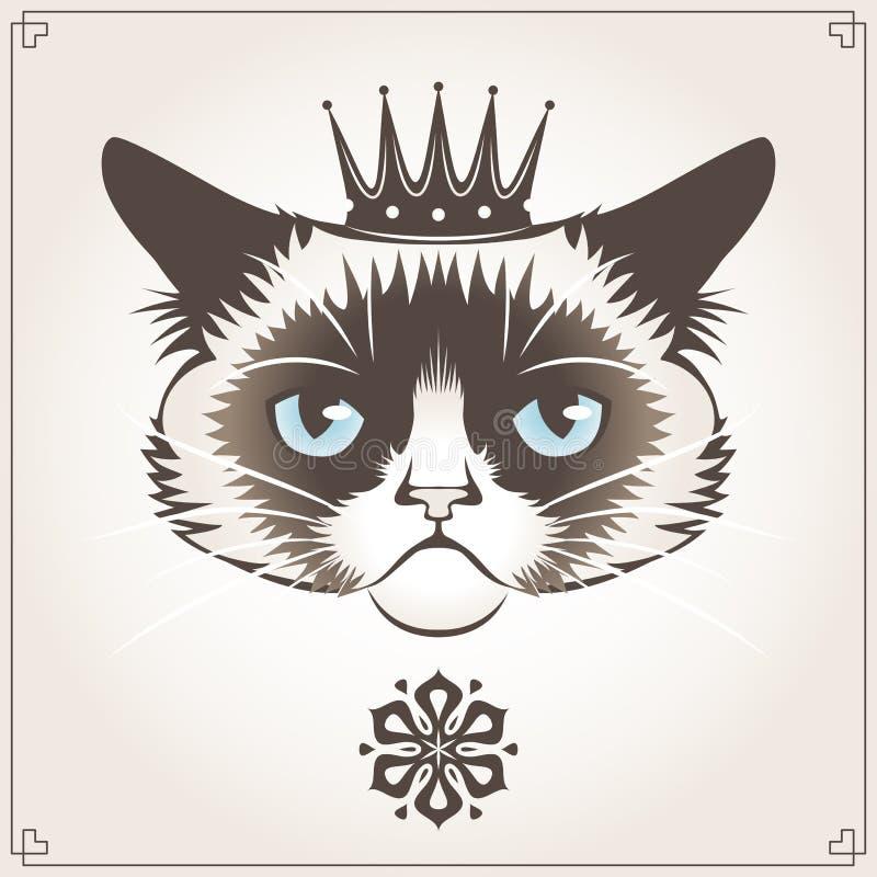 Grumpy cat stock illustration