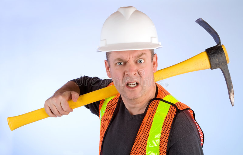 Download Grumpy Construction Worker Stock Images - Image: 7000944