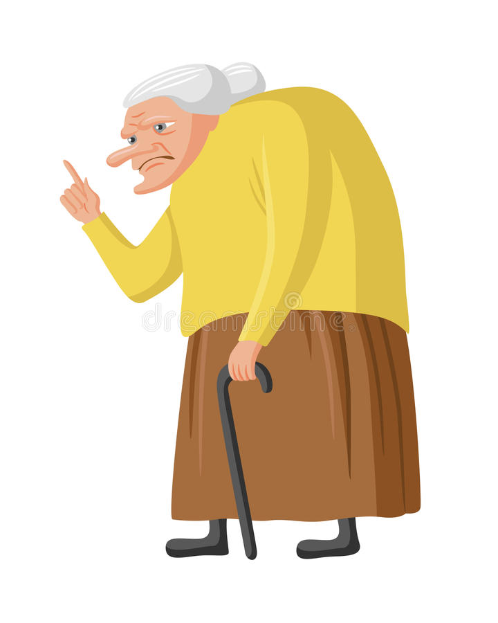 Free Grumpy Granny Royalty Free Stock Photos - 77797678