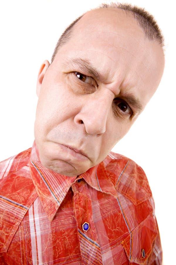 grumpy man royaltyfria foton