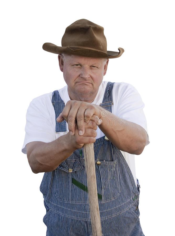 Download Grumpy Old Man stock image. Image of character, overalls - 11098519
