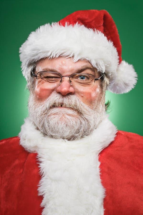 Grumpy Santa Claus. A real grumpy Santa Claus stock image