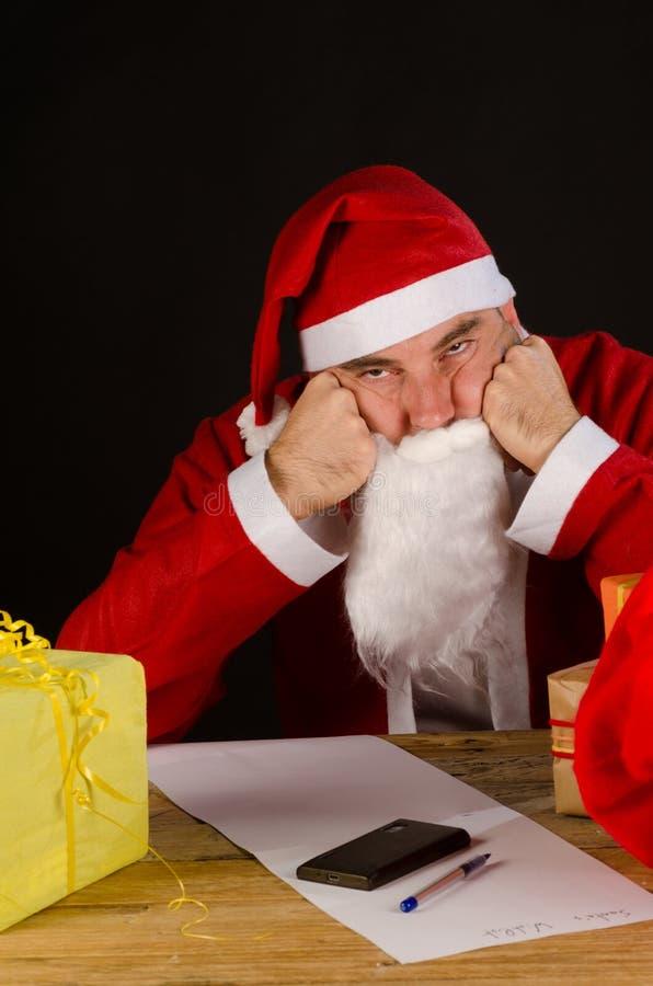 Grumpy Santa Royalty Free Stock Photo