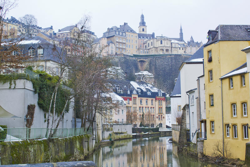 Grund邻里在卢森堡 库存图片
